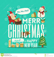greeting merry and happy new year stock vector