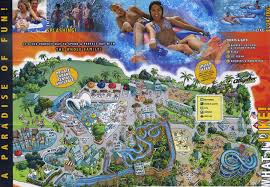 Six Flags America Map by Theme Park Brochures Six Flags Great America Theme Park Brochures