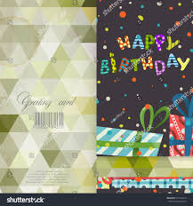 colorful birthday background greeting card design stock vector