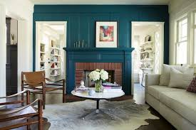 feature wall idea fireplace pinterest teal wall colors