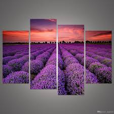 modern wall art home decoration purple lavender large living room