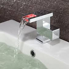 Led Bathroom Faucets Contemporary Color Changing Led Bathroom Sink Faucet
