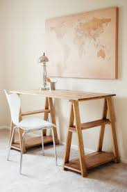 White Chair Desk by Furniture Wooden Sawhorse Desk With Cool White Chair And Desk