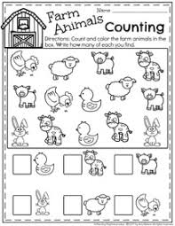 march preschool worksheets graphing activities farm animals and