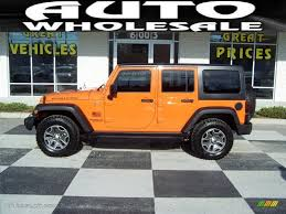 orange jeep rubicon 2013 crush orange jeep wrangler unlimited rubicon 4x4 74256429