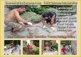 Patio Stones Canada Stone Pavers Installation Of Driveways Patios Pool Decks Retaining