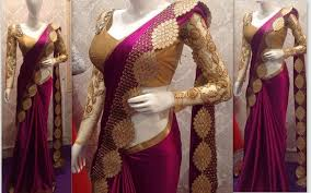 Buy Violet Embroidered Art Silk Buy Wine Embroidered Art Silk Saree With Blouse Online