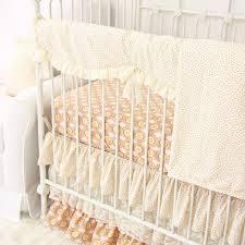 Coral Nursery Bedding Sets by Vanessa U0027s Vintage Floral Bumperless Crib Bedding Caden Lane