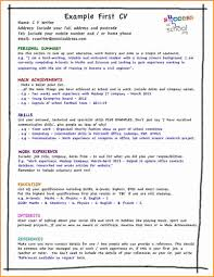 Very Good Resume Examples by 5 Good Cv Examples For First Job Invoice Template Download
