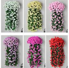 fake flowers for home decor aliexpress com buy wall mounted violet flowers vine for home