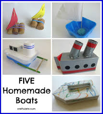 five homemade boats craftulate activities for toddlers