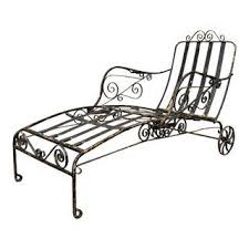 Wrought Iron Chaise Lounge Vintage Used Wrought Iron Patio And Garden Furniture Chairish
