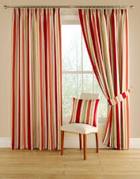 red and yellow curtains curtains wall decor