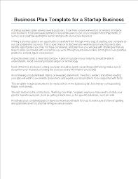 free startup business plan template templates at