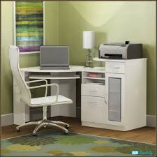 White Corner Workstation Desk New Corner Computer Desks Home Design Ideas
