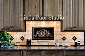 backsplash medallions kitchen metal murals for kitchen backsplash fleur de lis plaque