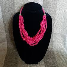 beading necklace lengths images Talbots multistrand bead necklace poshmark jpg
