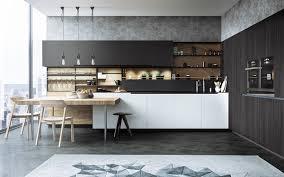 excellent modern kitchen with sleek dark brown kitchen countertop