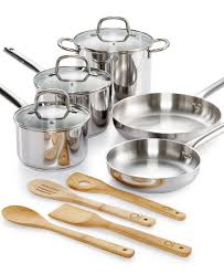 martha stewart collection 12 pc stainless steel cookware set