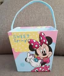 minnie mouse easter baskets minnie mouse easter basket paper cardboard tble11 ebay