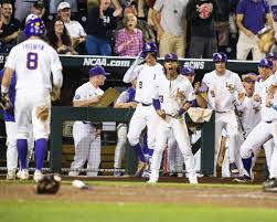 beach ball rally u0027 gives lsu cws opening win 5 4 lsusports net