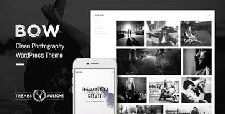 bow clean photography portfolio theme by themesawesome themeforest