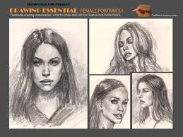to draw female faces or portraits