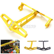 cnc aluminum gold motorcycle license plate frame steering lamp
