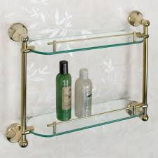 Glass Shelving For Bathrooms Bathroom Shelves Glass Wood And Marble Shelves Signature Hardware