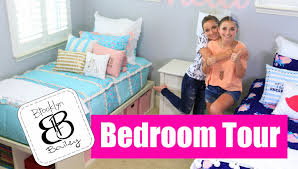 girls first bed teen bedroom tour brooklyn and bailey youtube