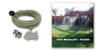 Patio Misting Kits Pre Assembled Diy Patio Kit For Instant Fine Mist Backyard Cooling