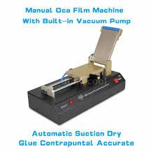 manual oca glass film laminating machine built in vacuum pump for