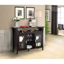 black wood buffet dining room sideboard with glass doors home
