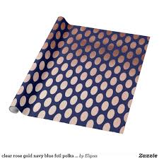 blue foil wrapping paper clear gold navy blue foil polka dots pattern wrapping paper