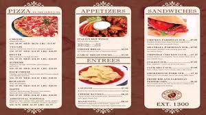 Designs Of Menu Card Restaurant Menu Design Templates Word Youtube