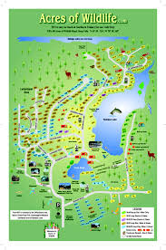 Ohio Campgrounds Map Acres Of Wildlife Campgrounds