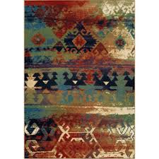 Rugs In Home Depot Orian Rugs Southwest Dreamcatcher Multi Red 5 Ft 3 In X 7 Ft 6