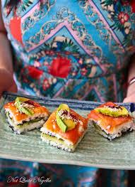 cocktail party sushi bites not quite nigella