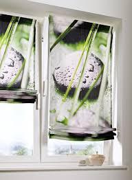 rollos für badezimmer 1 st raffrollo rollo 100 x 140 weiß grün digitaldruck blickdicht