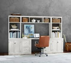 logan small office suite with file cabinets u0026 bridge pottery barn