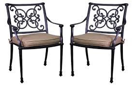 Patio Dining Chairs With Cushions Three Posts Fisher Stacking Patio Dining Chair With Cushion