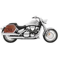 honda vtx 1800 f viking odin brown large motorcycle saddlebags
