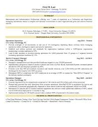 Sample Resume Format It Professional by 6 Sample Military To Civilian Resumes U2013 Hirepurpose