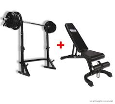 super 7 bench and combo squat rack package
