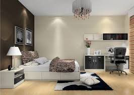 Grey Flooring Bedroom Bedroom Blak And White Accent Wall Bed Room And Wooden Floor Also