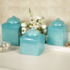 blue kitchen canister glass canister set for kitchen photogiraffe me