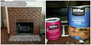 Fireplace Brick Stain by How To Update Brick Ask Anna