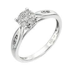inele logodna aur alb inel logodna din aur alb cu diamant ciorchine