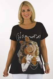 yours clothing womens plus size miss piggy character t shirt with