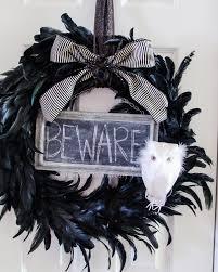 halloween wreath craftaholics anonymous black feather halloween wreath